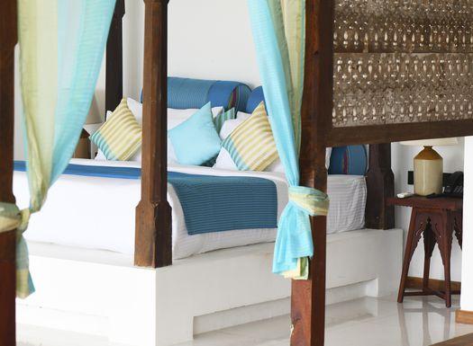 Stilvoll sind die Zimmer des Ayurveda Hotel Ayurvie eingerichtet